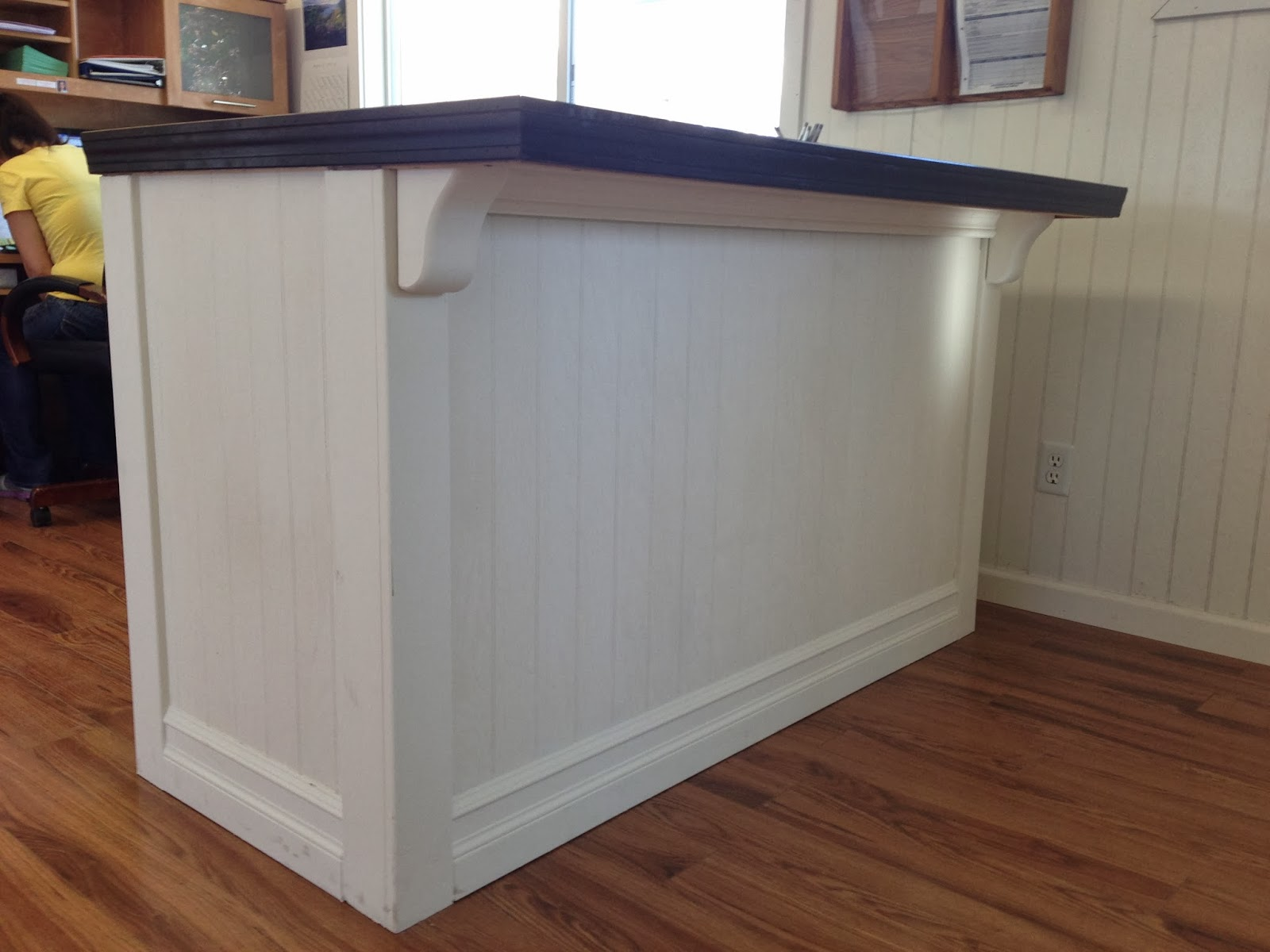 One Thrifty Chick: DIY Custom Reception Counter {Before ...